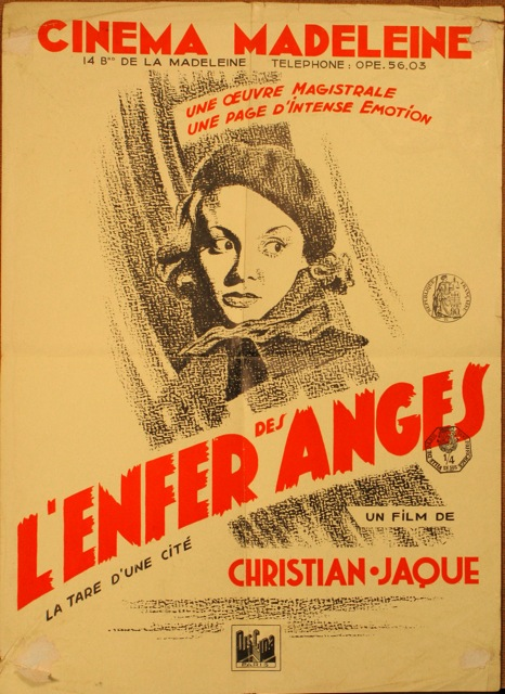 Affichette de L'Enfer des Anges. Jpeg